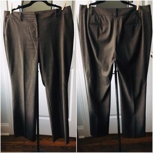 Ann Taylor Heather Brown Trousers Curvy 14